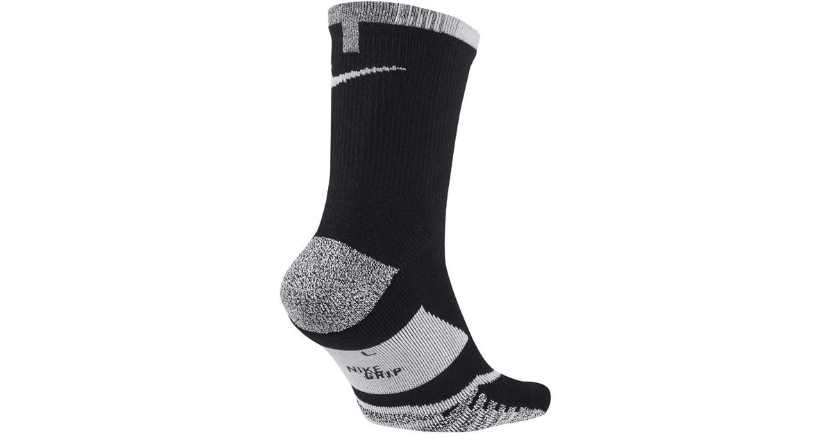 546163998eb9a Nike Black Grip Elite Crew Tennis Socks for men