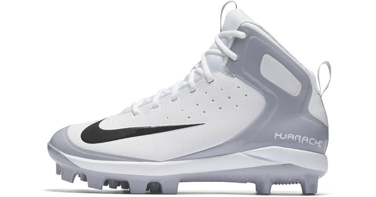 competitive price 2be3f cfd5c ... order lyst nike alpha huarache pro mid mcs mens baseball cleats in gray  for men 586e5