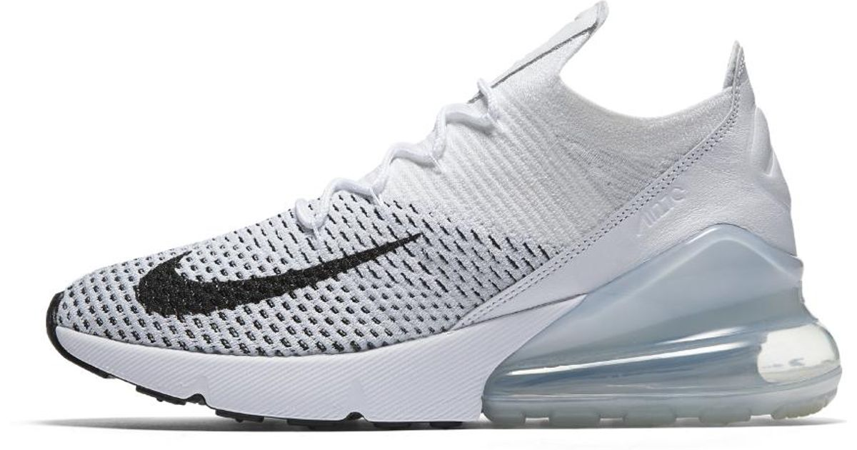 cheap for discount 4acfc 9d691 Nike White Air Max 270 Flyknit Women's Shoe