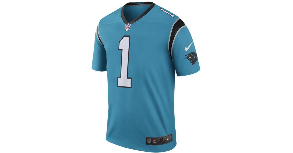 best service 2aba6 4c6d2 Nike Blue Nfl Carolina Panthers Color Rush Legend (cam Newton) Men's  Football Jersey for men