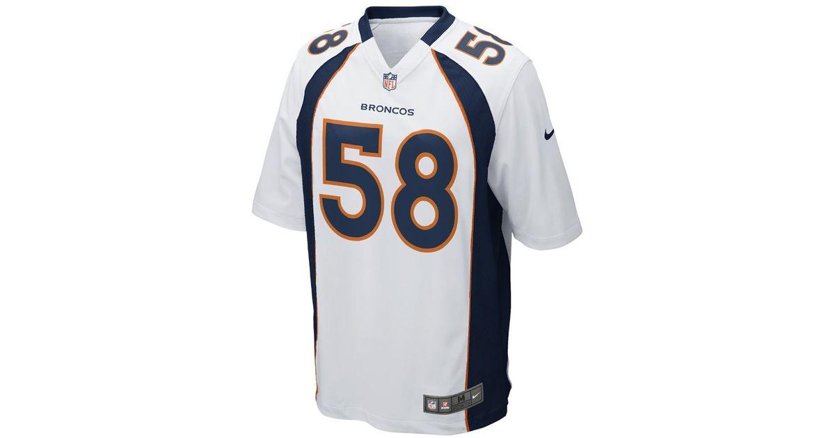 Lyst - Nike Nfl Denver Broncos (von Miller) Men s Football Away Game Jersey  in Blue for Men bac6e9258