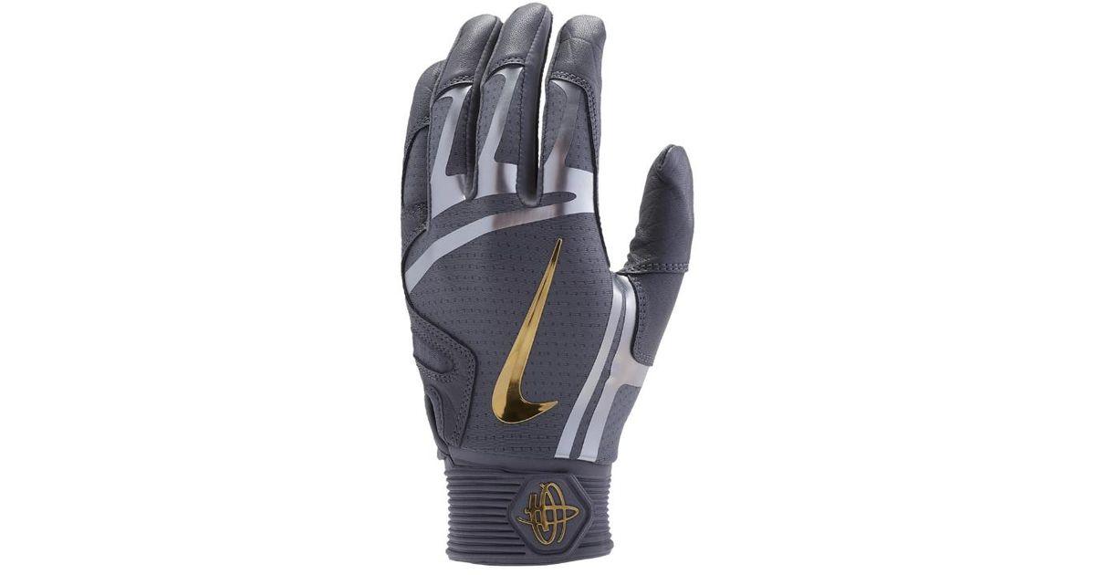 Nike Black Huarache Elite Baseball Batting Gloves for men