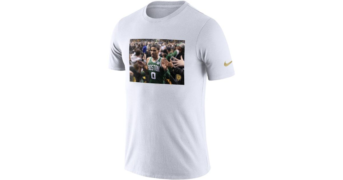 super popular f0290 0fb21 Nike White Jayson Tatum Boston Celtics Dri-fit Men's Nba T-shirt for men