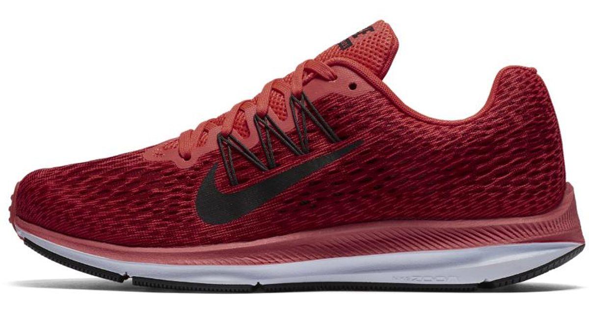 innovative design 66386 3f6b9 Nike Red Air Zoom Winflo 5 Women's Running Shoe