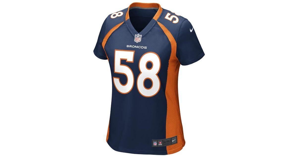 743bb438bfbde Lyst - Nike Nfl Denver Broncos (von Miller) Women's Football Alternate Game  Jersey in Blue