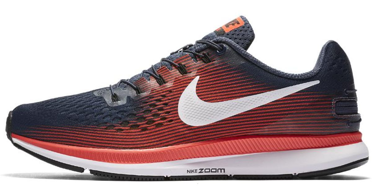 ... official store lyst nike air zoom pegasus 34 flyease mens running shoe  in blue for men ... 5a5f894b7