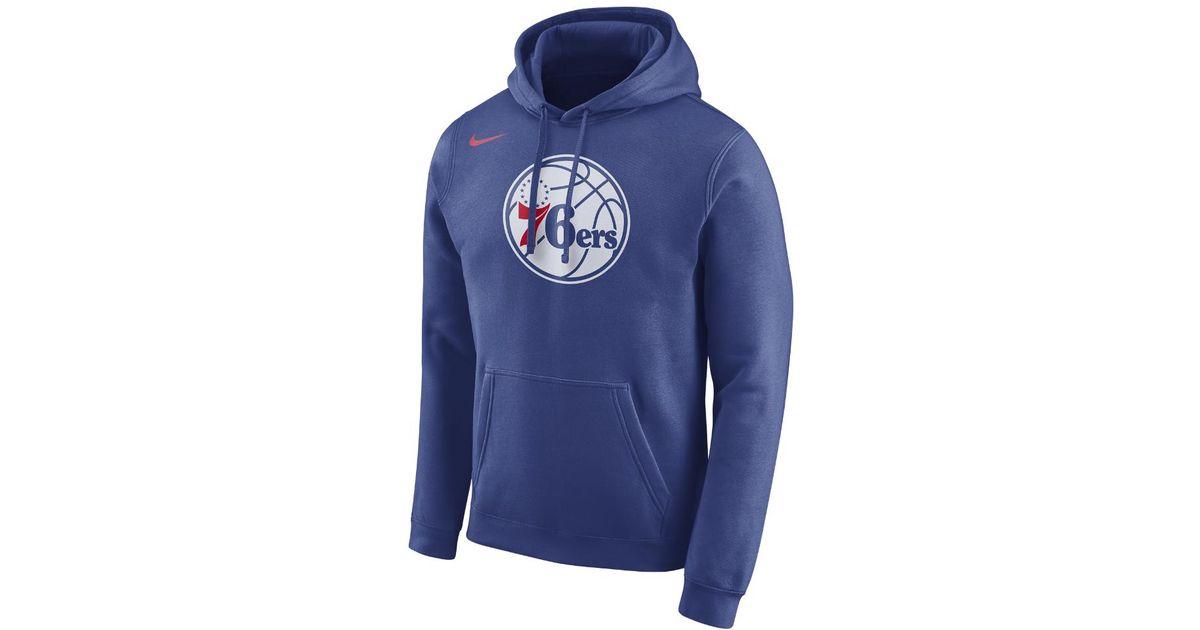 a0babe812a Nike - Blue Philadelphia 76ers Men's Fleece Nba Hoodie for Men - Lyst
