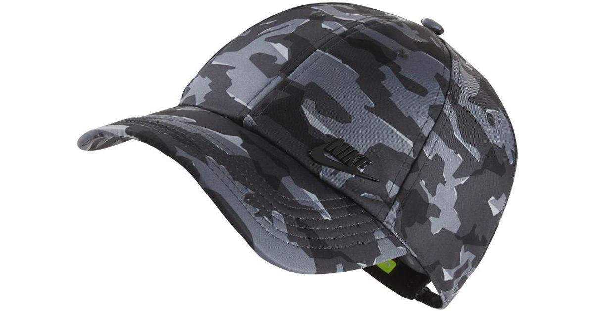 535d0307f7f Lyst - Nike Sportswear Futura Heritage 86 Adjustable Hat (black) in Black  for Men