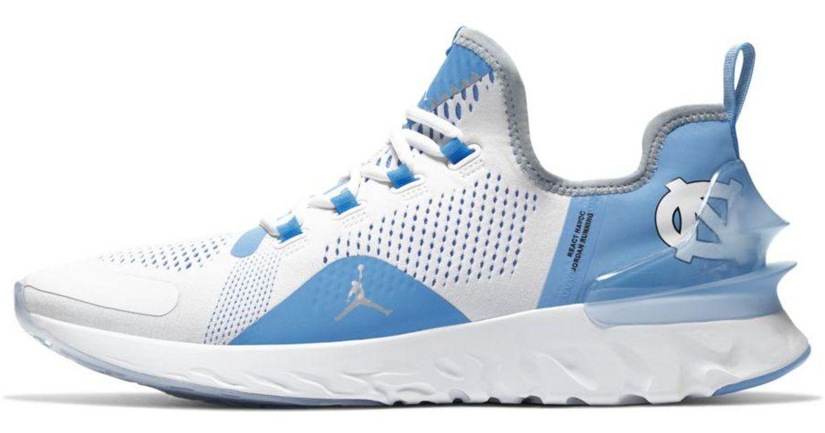 Nike White Jordan React Havoc Unc Training Shoe for men
