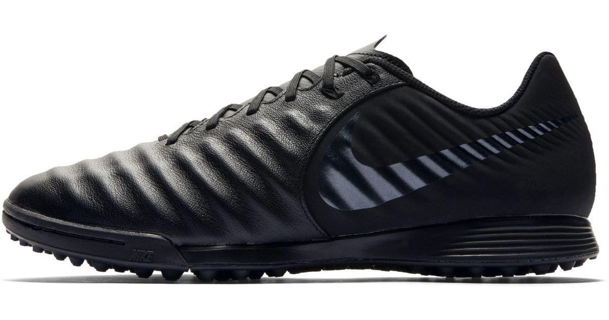 premium selection d3881 7b8ac Nike Tiempox Legend Vii Academy Turf Football Boot in Black - Lyst