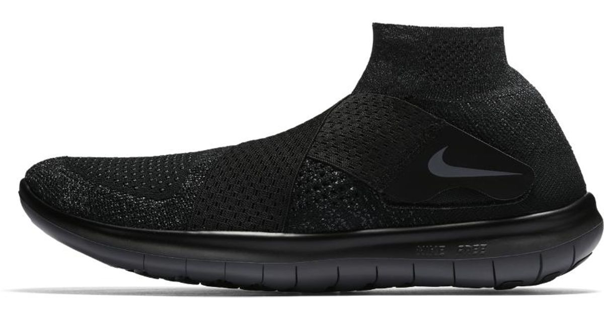 72aefde2f3e81 Lyst - Nike Free Rn Motion Flyknit 2017 Men s Running Shoe in Black for Men