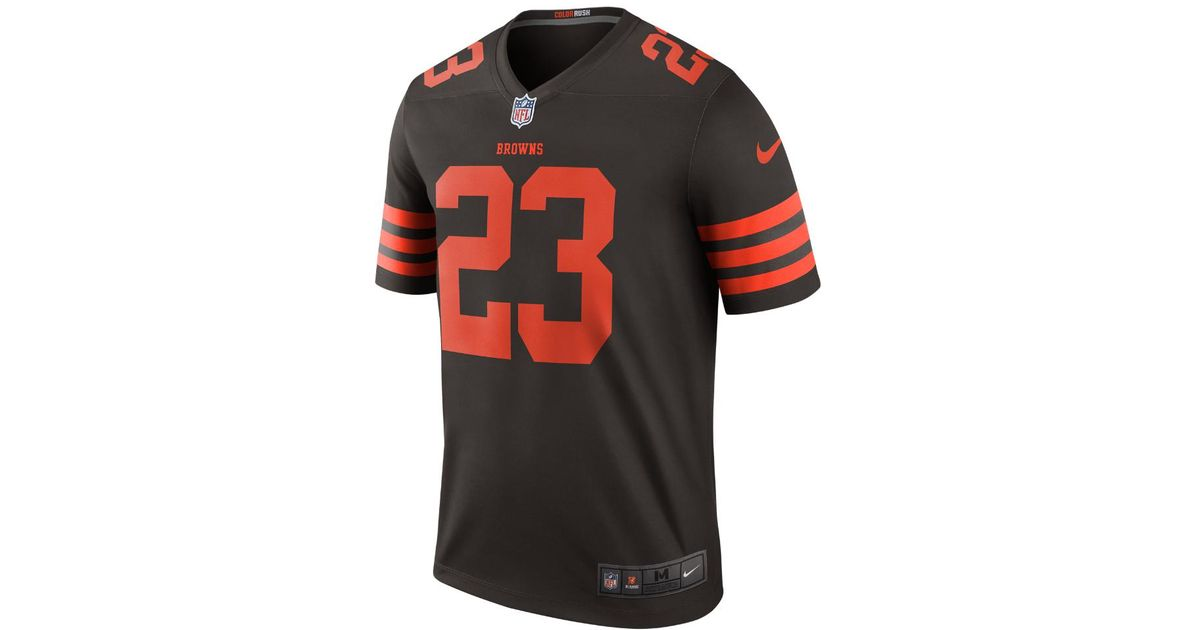 brand new 2b6fc 22516 Nike Multicolor Nfl Cleveland Browns Color Rush Legend (joe Haden) Men's  Football Jersey for men