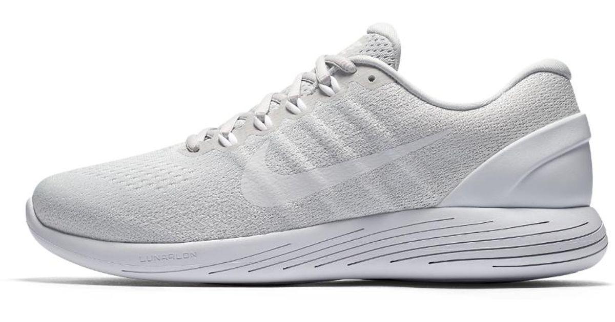 d6f83ff3032 Lyst - Nike Lunarglide 9 Men s Running Shoe in White for Men - Save 55%