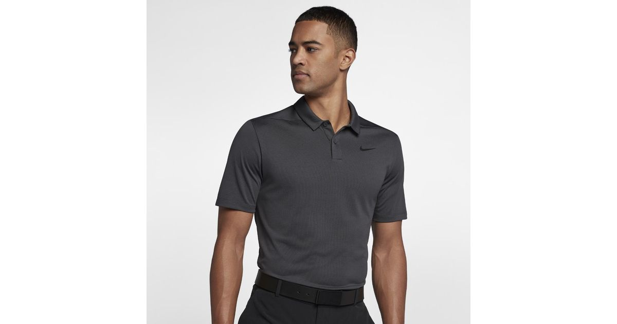 82b3c76141d8 Lyst - Nike Breathe Men s Standard Fit Golf Polo Shirt in Black for Men