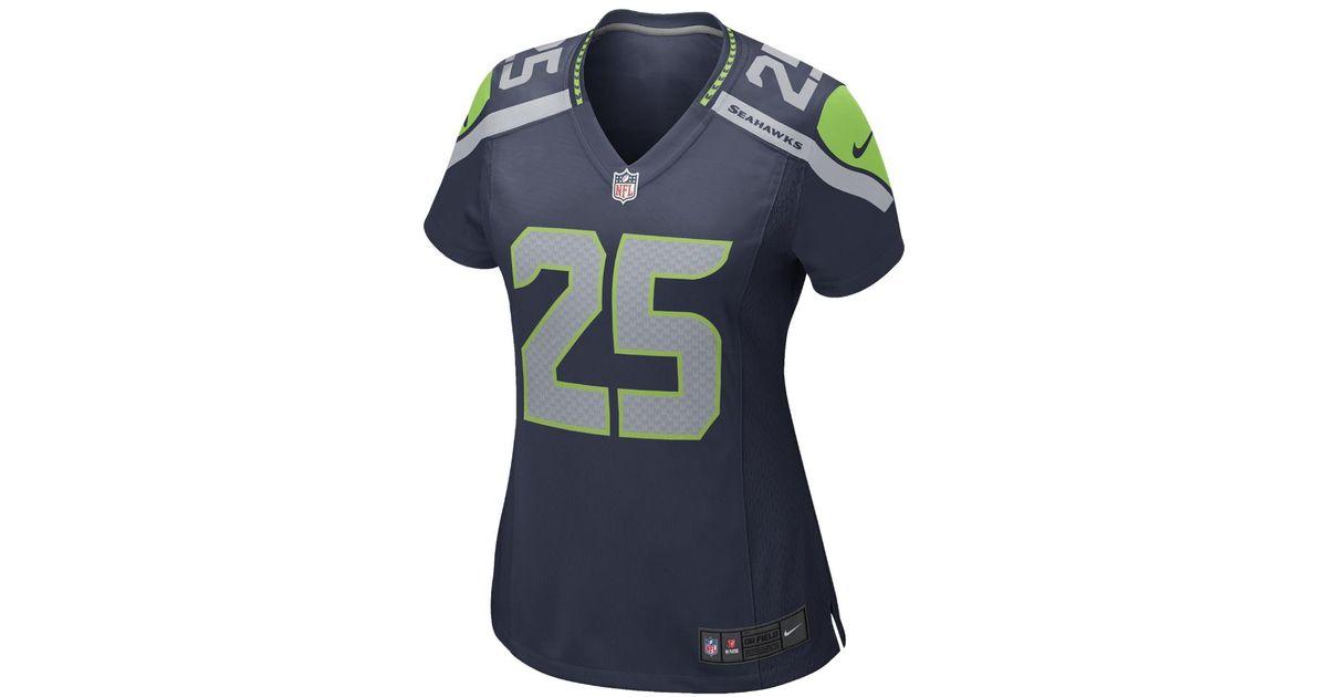 9a9ff6160 Lyst - Nike Nfl Seattle Seahawks (richard Sherman) Women s Football Home Game  Jersey in Blue