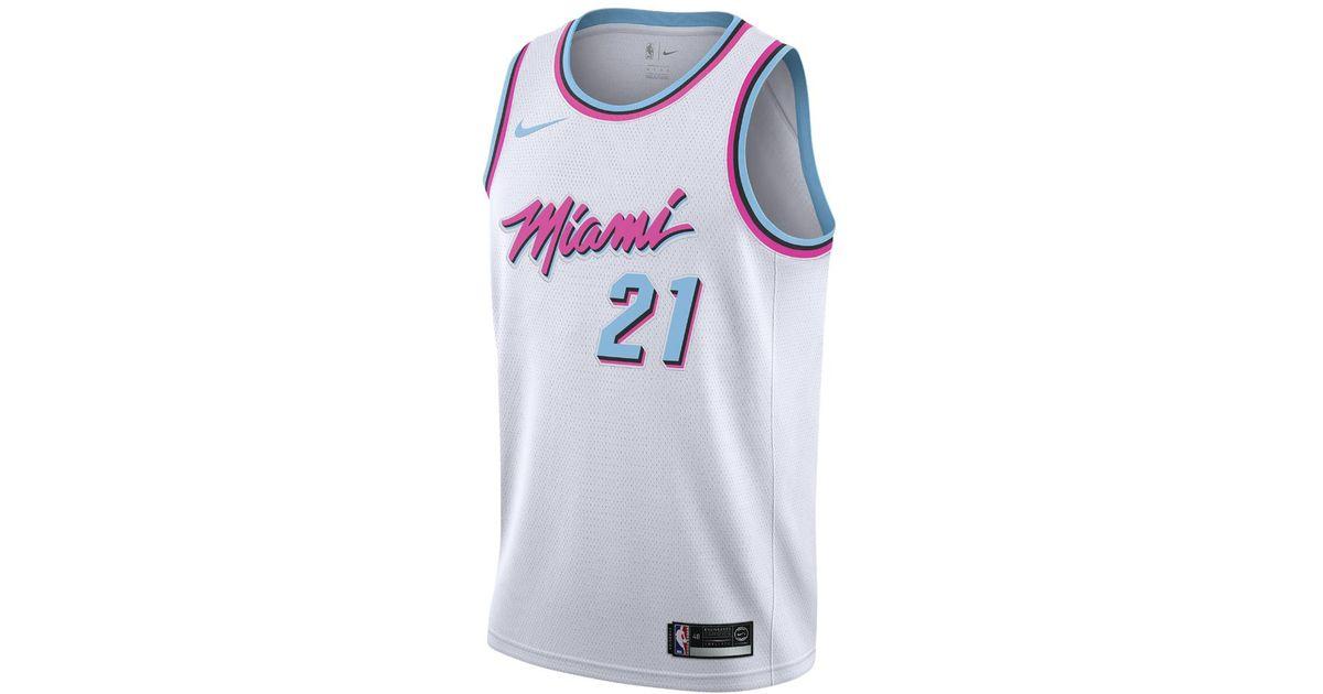 check out f0679 2966b Nike Hassan Whiteside City Edition Swingman Jersey (miami Heat) Men's Nba  Jersey for men