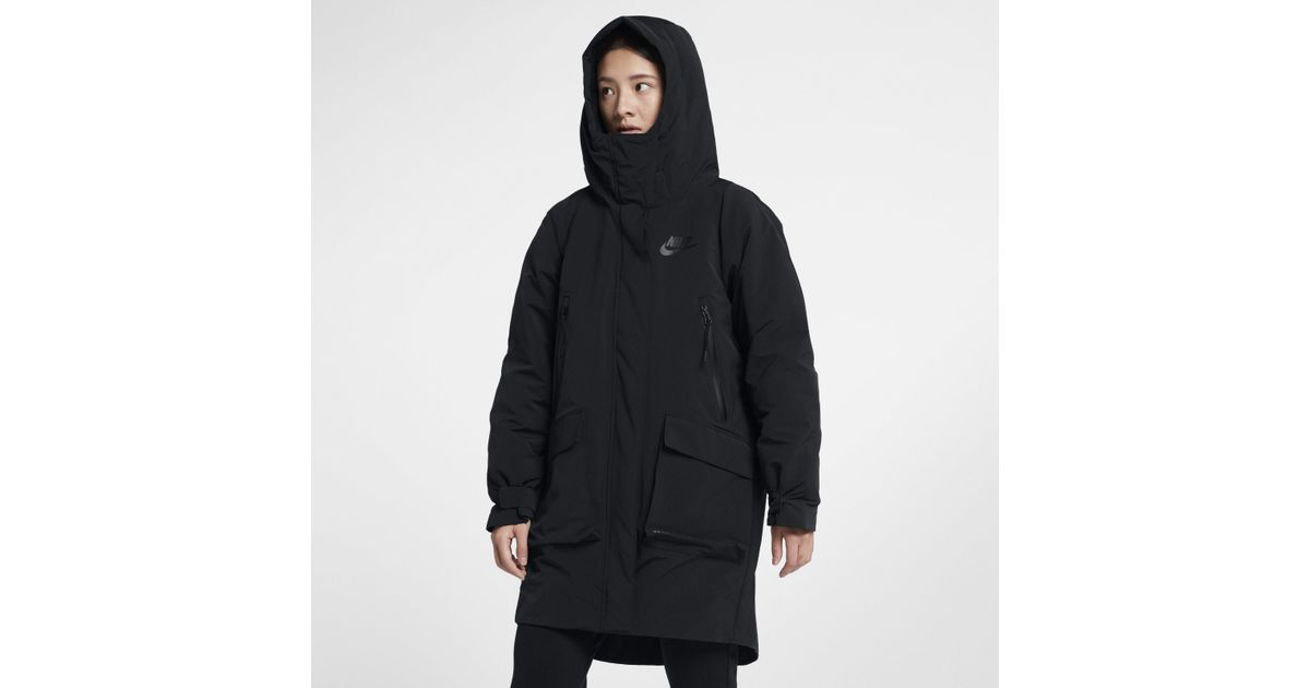 a0e9b60c Nike Sportswear Tech Pack Down-fill Parka in Black - Lyst