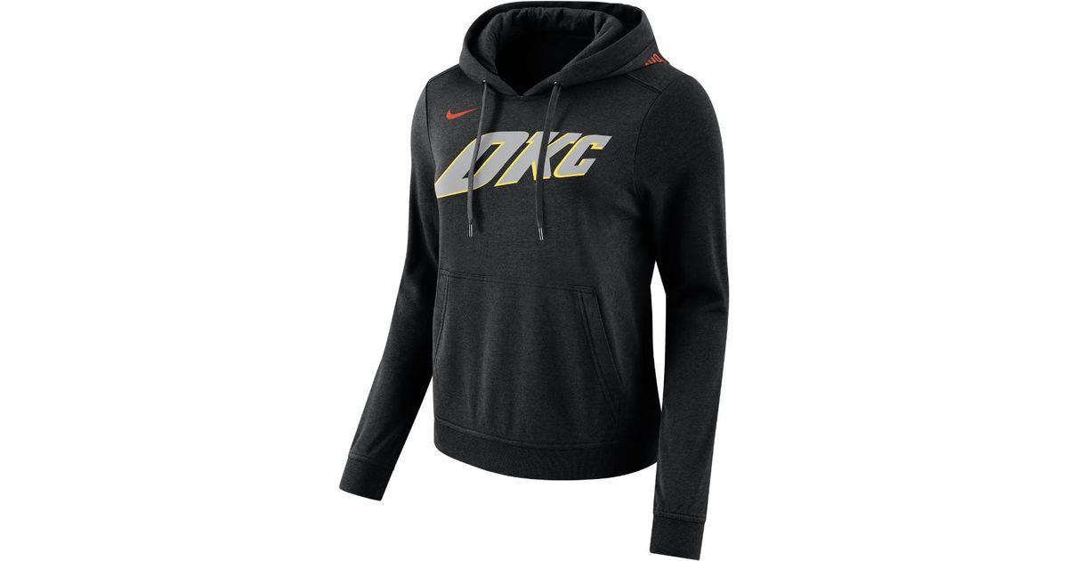 promo code 9e03d f5dad Nike Black Oklahoma City Thunder City Edition Women's Nba Hoodie