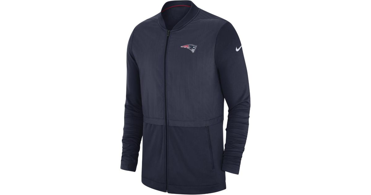 e9ffef809fb Lyst - Nike Elite Hybrid (nfl Patriots) Men s Full-zip Jacket in Blue for  Men - Save 25%