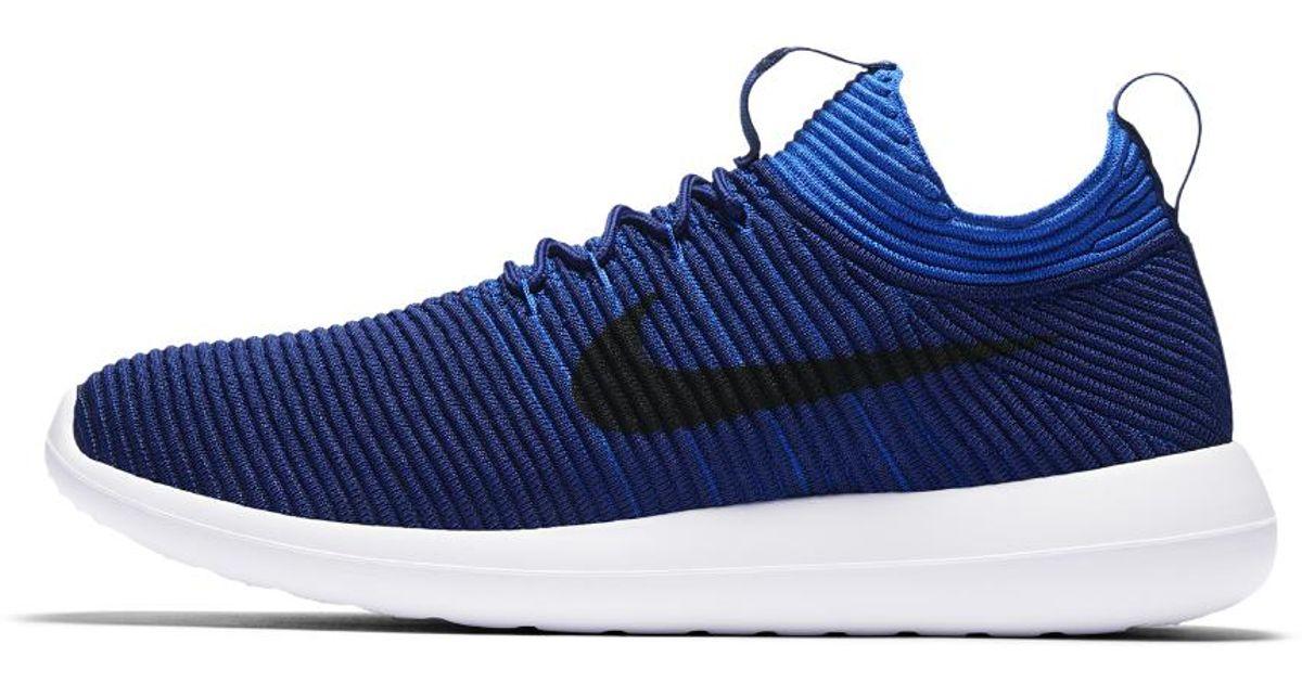 new style 35804 30aab Nike Blue Roshe Two Flyknit V2 Men's Shoe for men