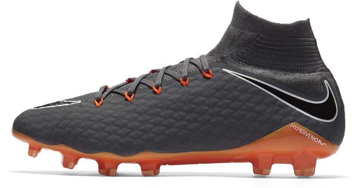 the latest dc746 95051 Nike Gray Hypervenom Phantom Iii Pro Dynamic Fit Fg Firm-ground Soccer  Cleats for men