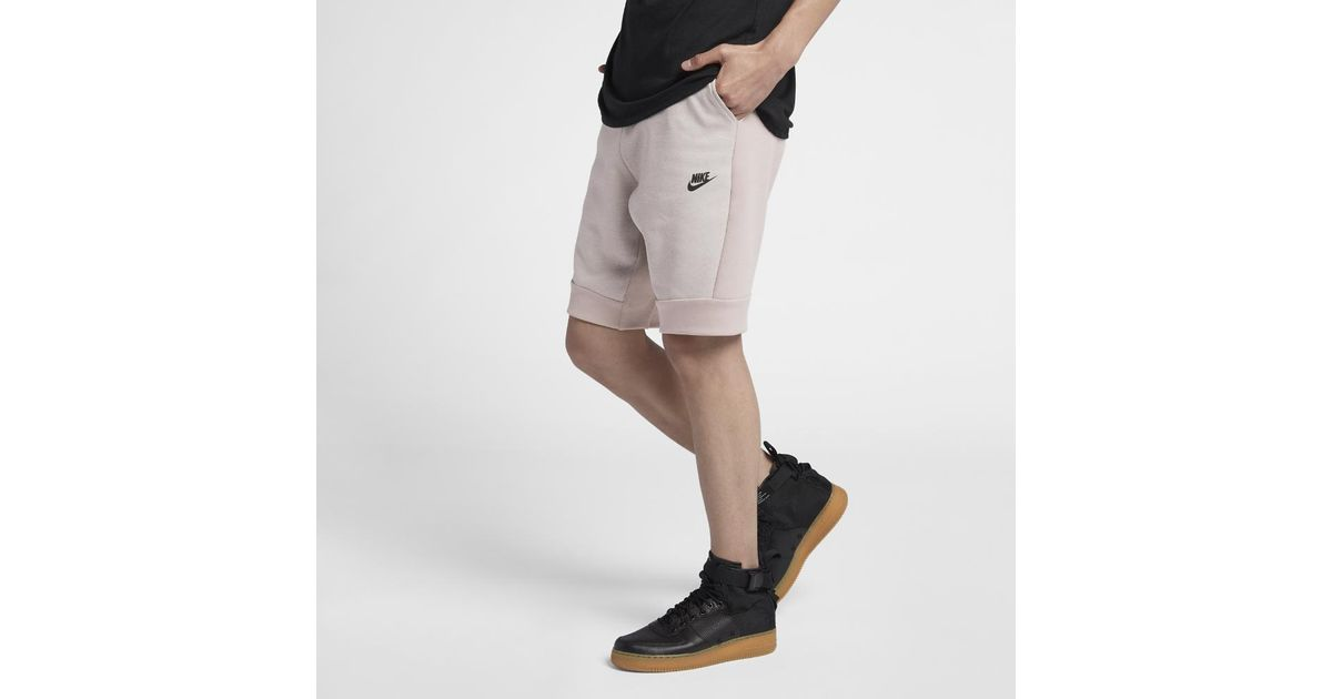 nike fleece men's shorts