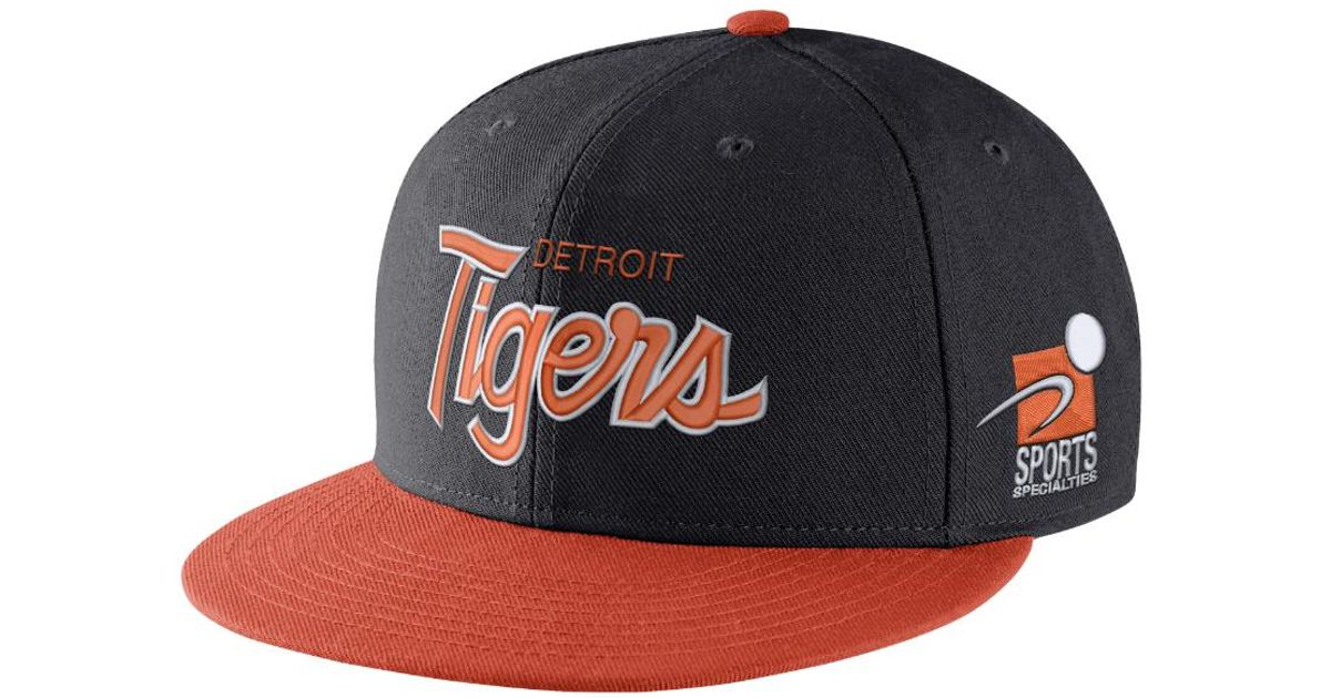 99d755b6 ... sale lyst nike pro sport specialties mlb tigers adjustable hat blue in  blue for men 9b1d2