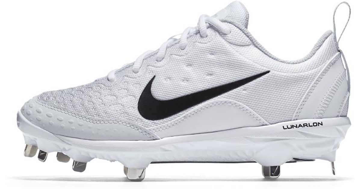 95dca6bb6a49 Lyst - Nike Lunar Hyperdiamond 2 Pro Women s Softball Cleat in White