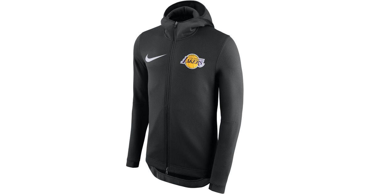 2b172587 Nike Los Angeles Lakers Therma Flex Showtime Nba Hoodie in Black for Men -  Lyst