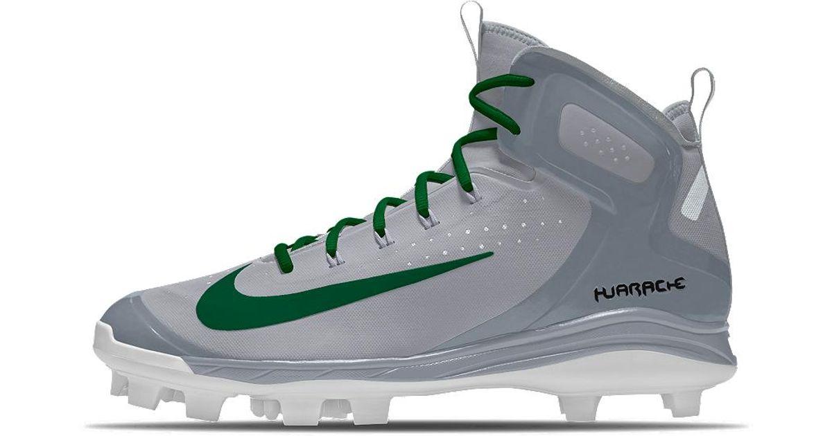fa2d9ec2 Nike Alpha Huarache Elite Mid Mcs Id Men's Baseball Cleats in Gray for Men  - Lyst