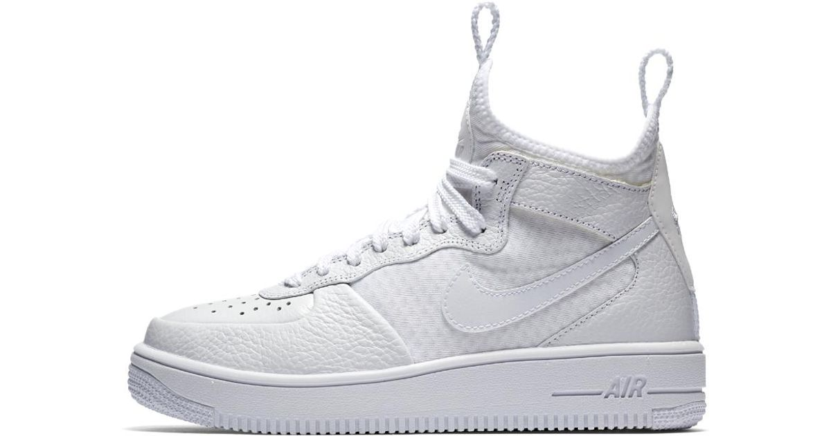 Nike Air Force 1 Mid argentato