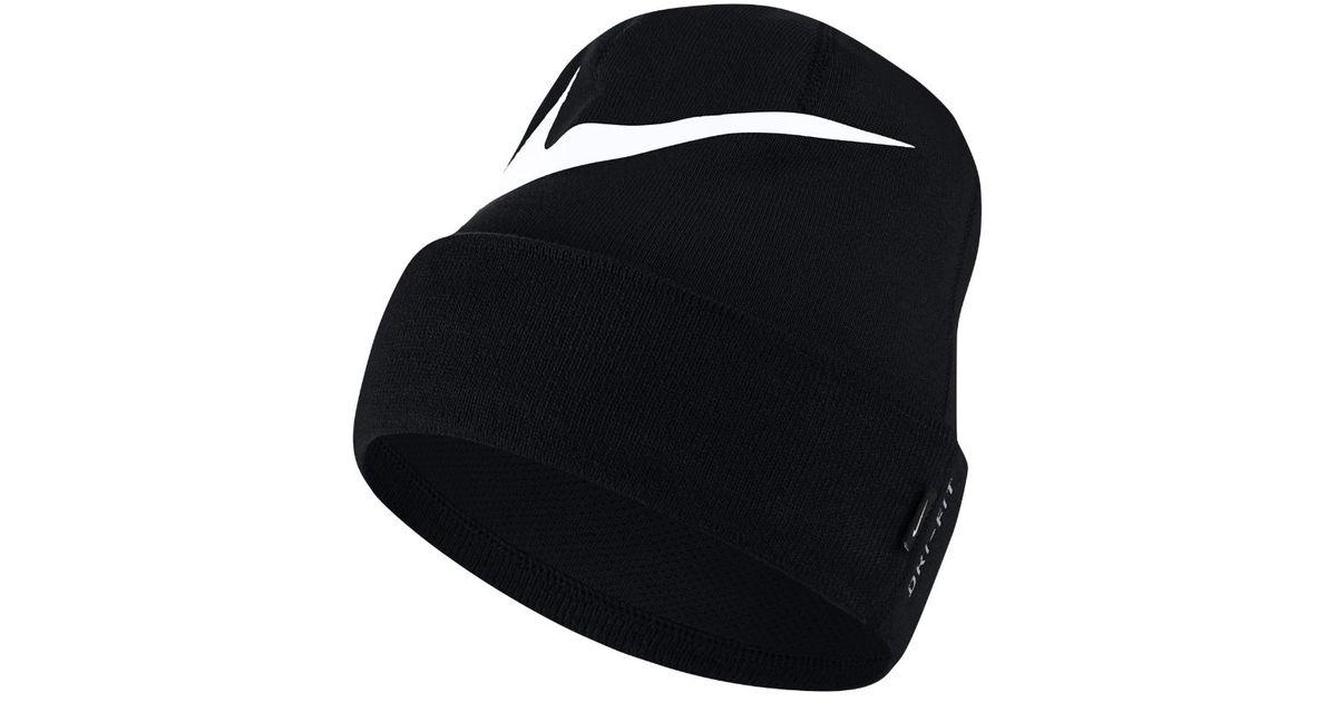 5401198ddea Lyst - Nike Swoosh Cuffed Training Knit Hat (black) in Black for Men