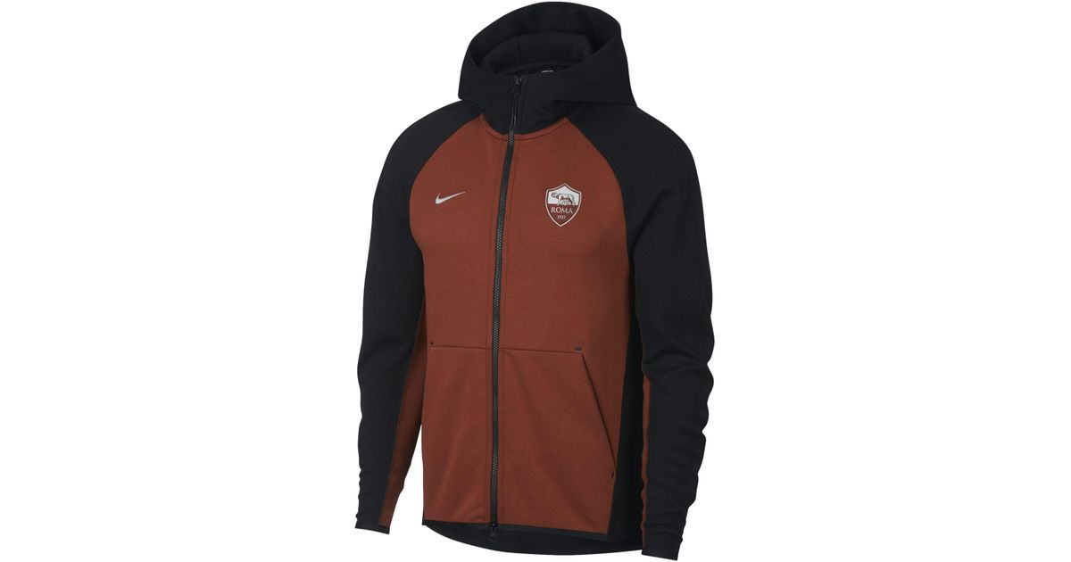 official photos 0b909 a84b6 nike-Black-As-Roma-Tech-Fleece-Full-zip-Hoodie.jpeg