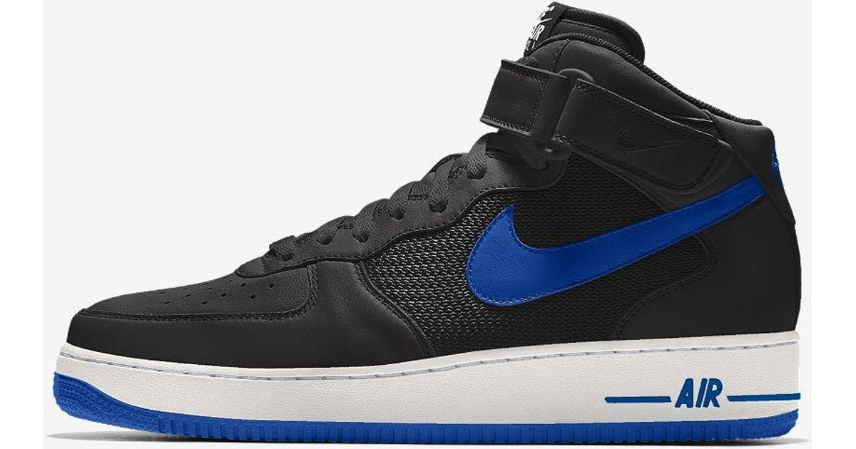 Ejercicio Comerciante estaño  Nike Air Force 1 Mid By You Custom Shoe in Blue for Men - Lyst