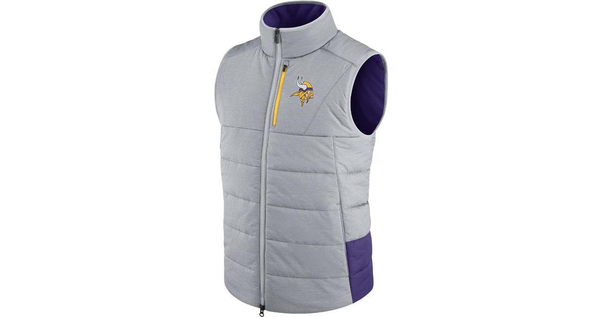 factory price 14672 c0566 Nike - Gray Sideline (nfl Vikings) Men's Vest for Men - Lyst
