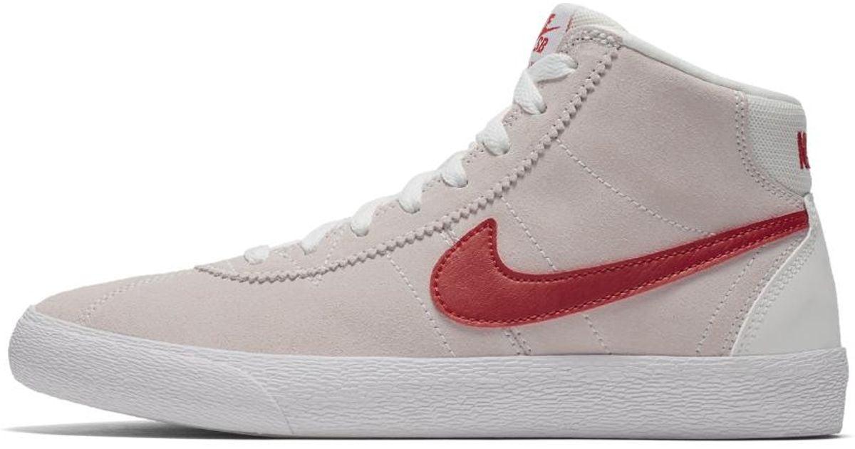 Lyst - Nike Sb Bruin High Women s Skateboarding Shoe in White 616169543