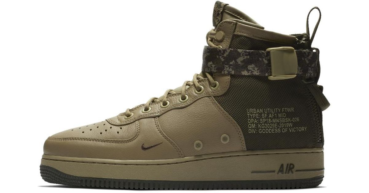 finest selection ea0d1 ab789 Nike Sf Air Force 1 Mid Men s Shoe in Green for Men - Lyst