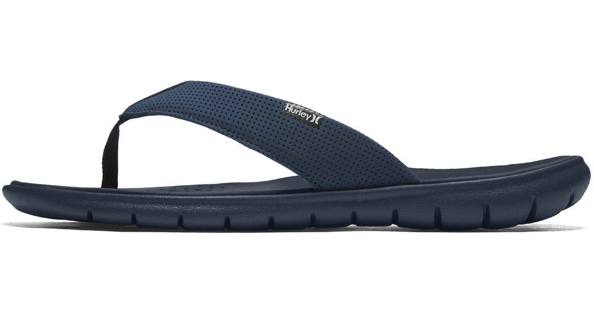 854189f45ca Nike Hurley Flex Sandal in Blue for Men - Lyst
