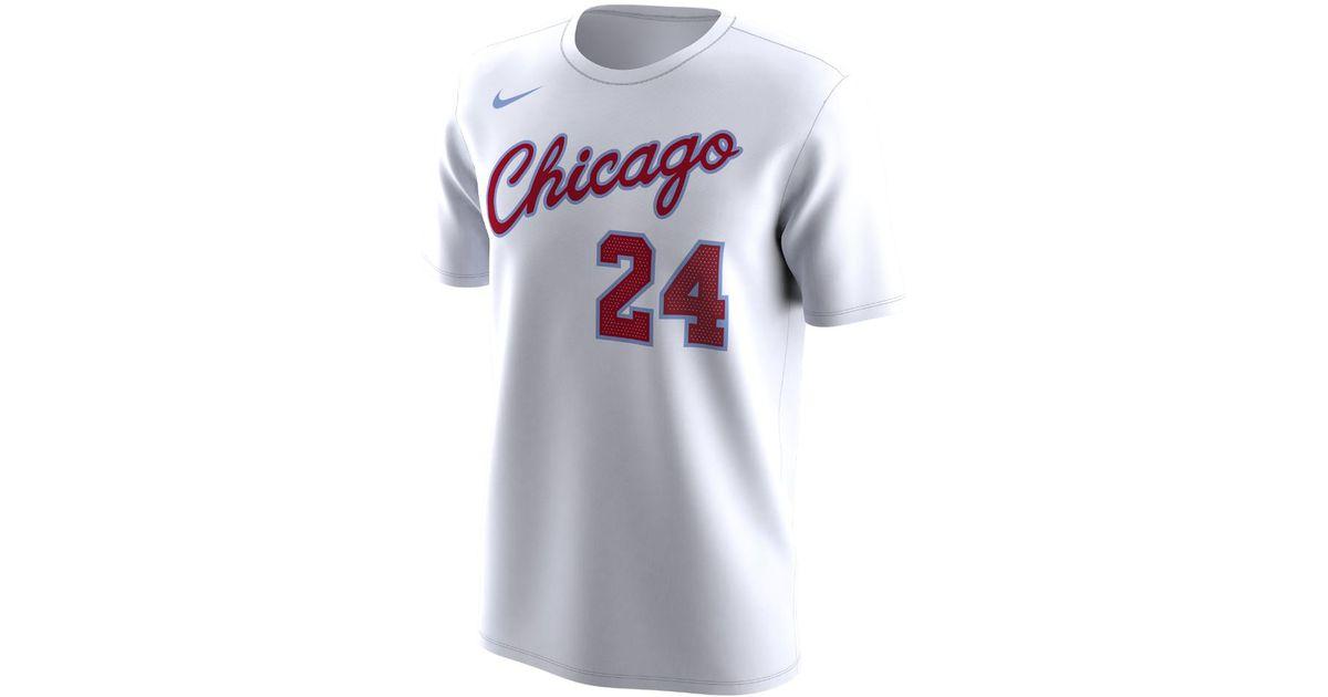 finest selection 2accb 88164 Nike White Chicago Bulls City Edition (lauri Markkanen) Dri-fit Men's Nba  T-shirt for men