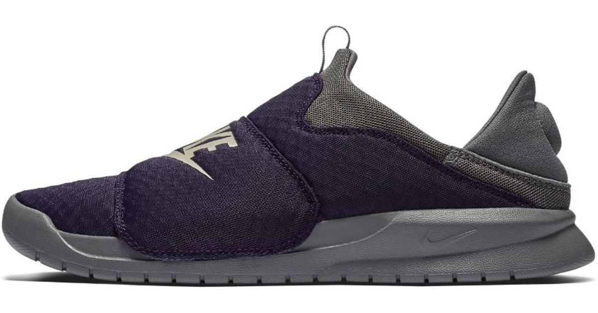 Nike Suede Benassi Slip Shoe in Purple