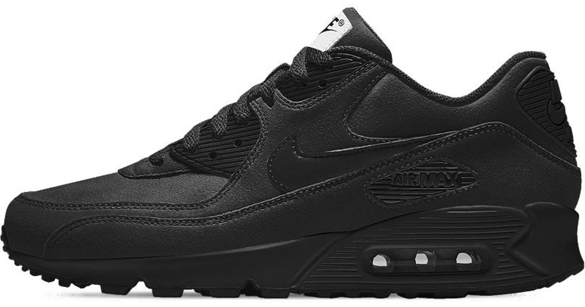 size 40 c1cb4 2a229 Lyst - Nike Air Max 90 Essential Id Men s Shoe in Black for Men - Save 10%