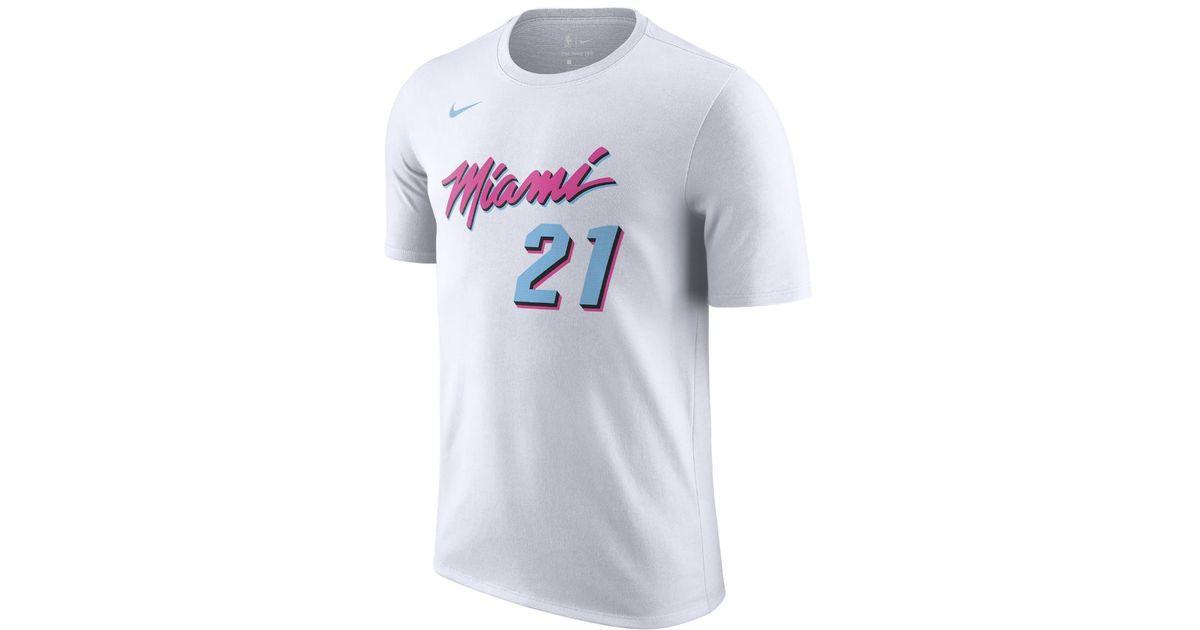 new product b88e3 fdedb Nike Hassan Whiteside Miami Heat City Edition Dri-fit Men's Nba T-shirt for  men