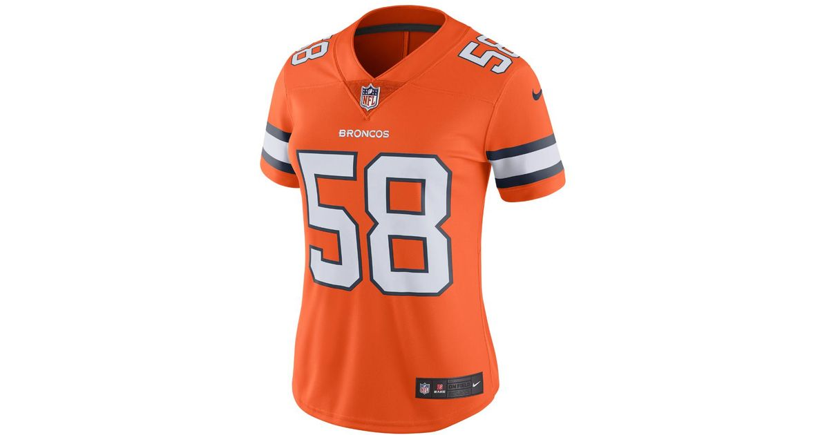 new style b1827 ee079 Nike - Orange Nfl Denver Broncos Color Rush Limited (von Miller) Women's  Football Jersey - Lyst