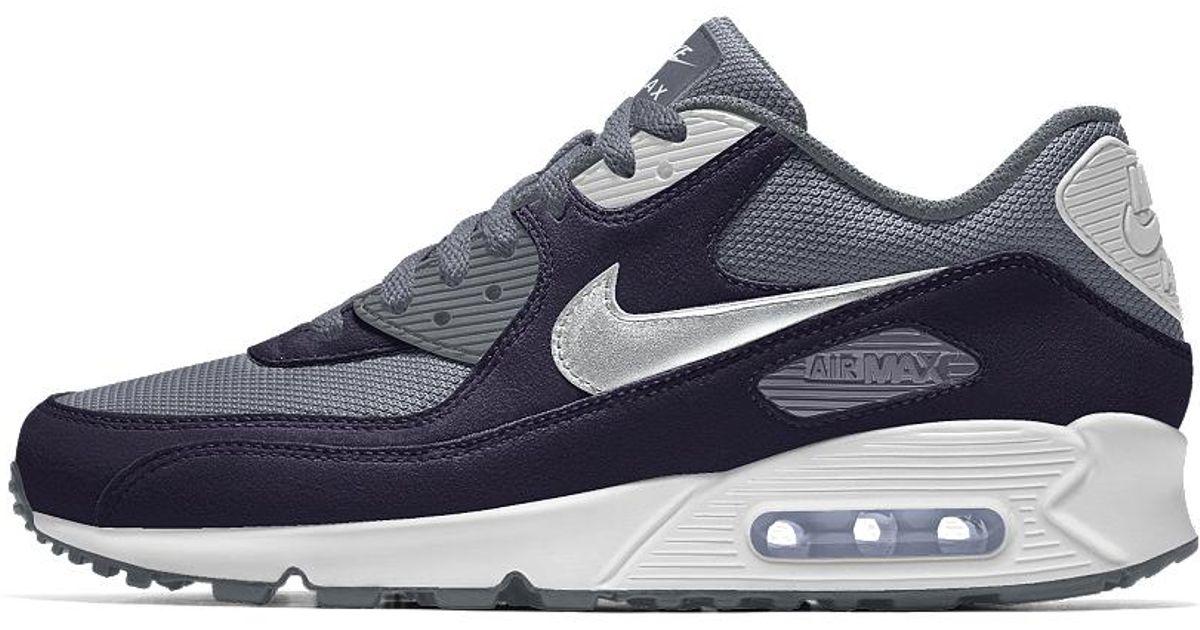 Nike Blue Air Max 90 Id Men's Shoe for men