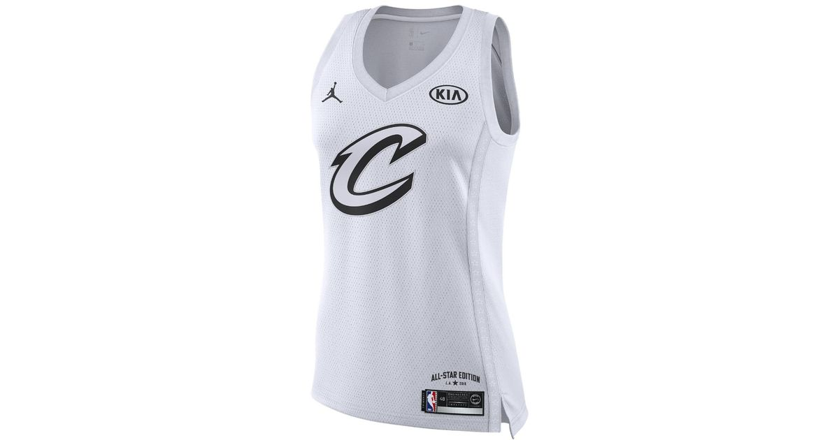 save off 5f713 cfc1b Nike White Lebron James All-star Edition Authentic Jersey Women's Nba  Connected Jersey, By Nike