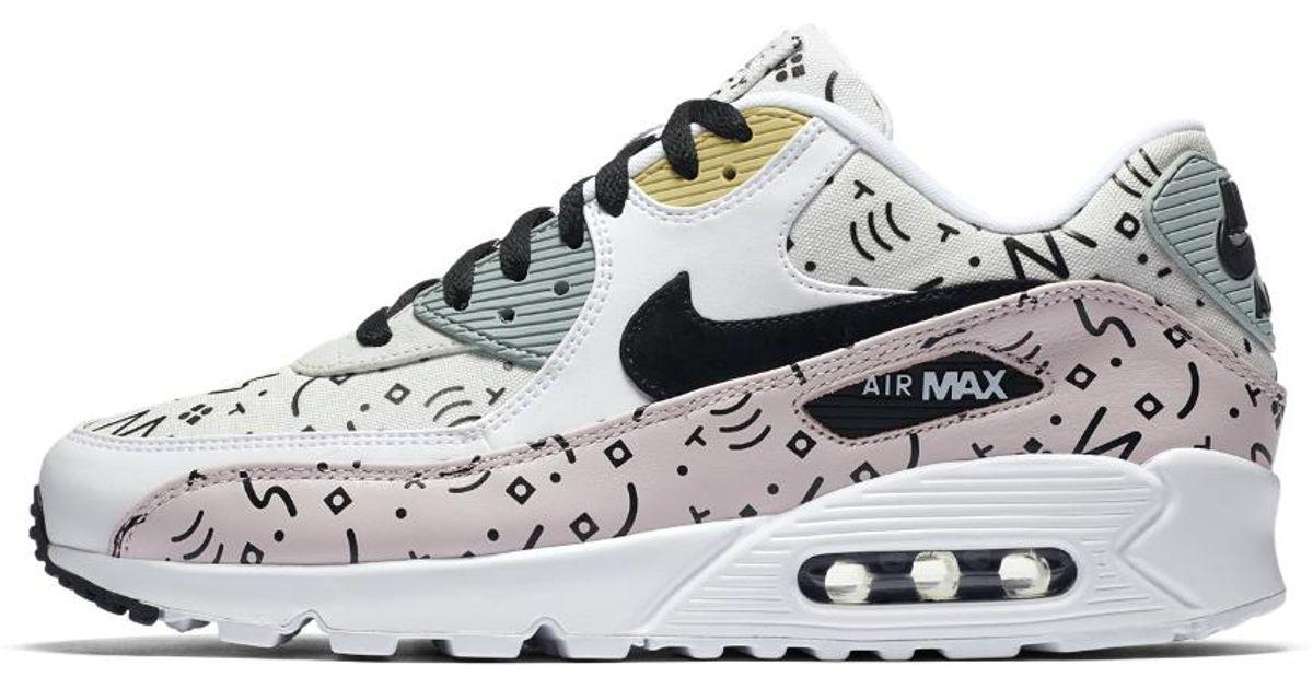separation shoes 138d9 59bb5 Nike White Air Max 90 Premium Men's Shoe for men