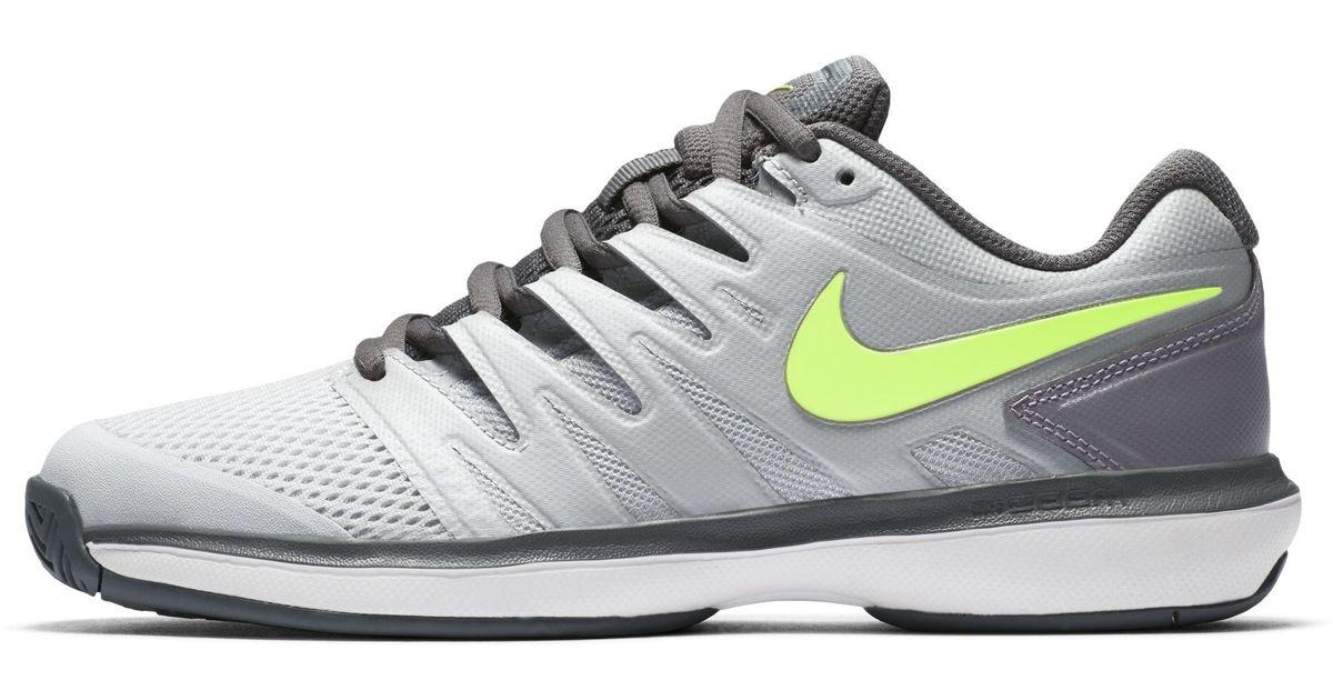cf61004ee733 Nike Court Air Zoom Prestige Hard Court Tennis Shoe in Gray - Lyst