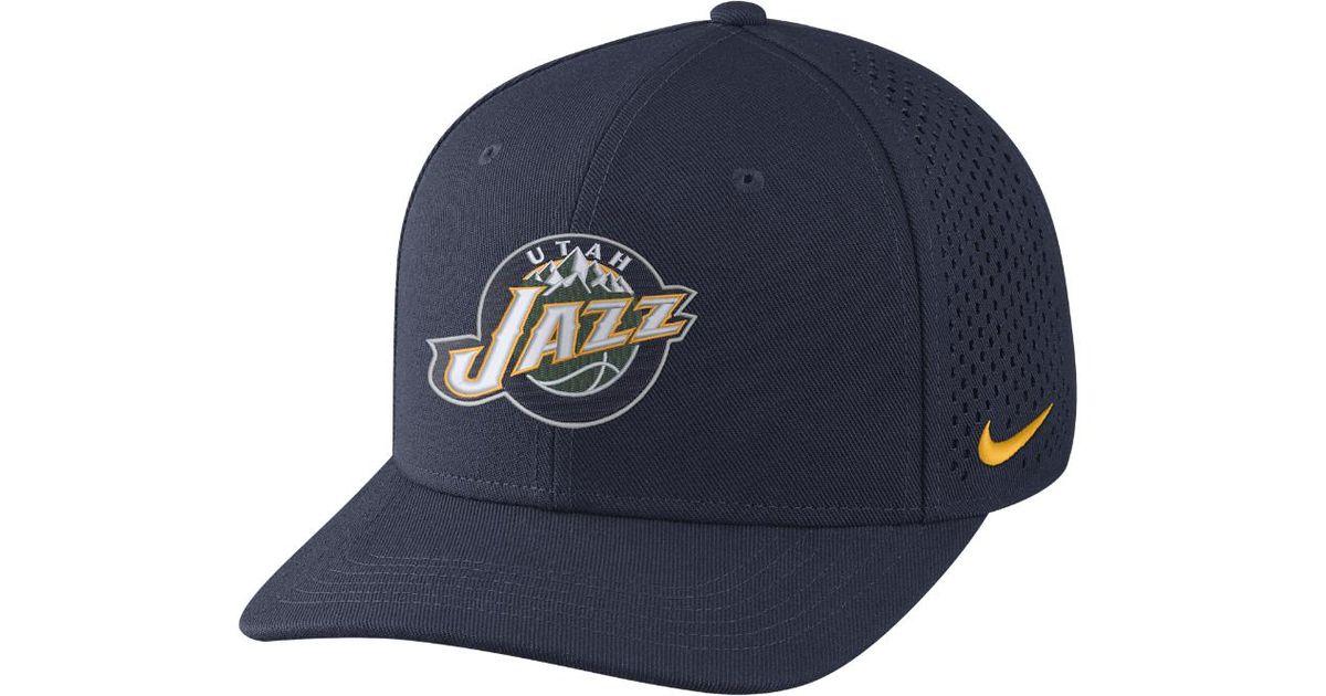 0b2f59935cb ... czech lyst nike utah jazz aerobill classic99 adjustable nba hat blue in  blue for men 0b5ab
