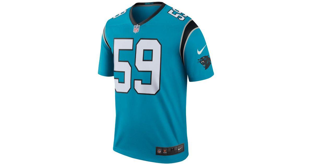 c203d2029 Nike Nfl Carolina Panthers Color Rush Legend (luke Kuechly) Men's Football  Jersey in Blue for Men - Lyst