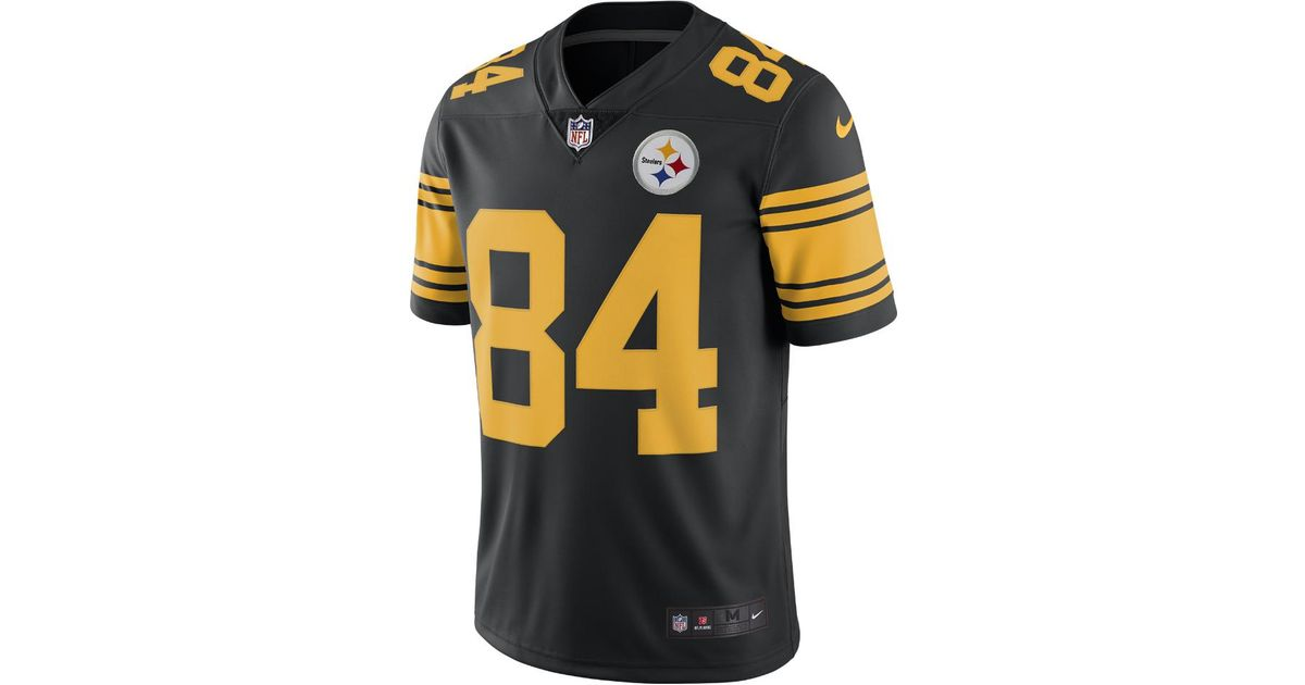 cfe03b97439 NFL steelers color rush Nike player game jersey brown